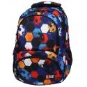 Trzykomorowy plecak szkolny St.Right 24 L, Football BP7