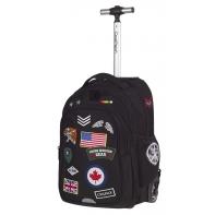 Plecak szkolny na kółkach CoolPack Junior 33 L, Badges Black A 424