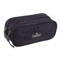 Saszetka piórnik szkolny Coolpack Clever, Como Black A562