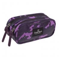 Saszetka piórnik szkolny Coolpack Clever, Flock Como Violet A555