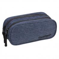 Saszetka piórnik szkolny Coolpack Clever, Snow Blue + Silver A324