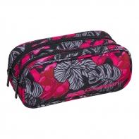 Saszetka piórnik szkolny Coolpack Clever, Red&Black Flowers A243