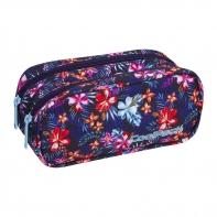 Saszetka piórnik szkolny Coolpack Clever, Tropical Bluish A228