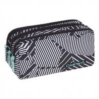 Trzykomorowa saszetka piórnik szkolny Coolpack Primus, Black&White A018