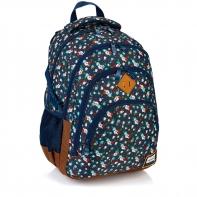 Plecak szkolny Astra Head HD-111, w kolorowe kwiatuszki