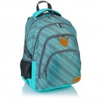 Plecak szkolny Astra Head HD-72, miętowy w szare paski