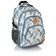 Plecak szkolny Astra Head HD-48, szary w tukany