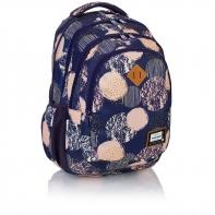 Plecak szkolny Astra Head HD-40, w kremowe koła