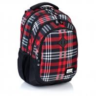 Plecak szkolny Astra Head HD-90, czerwony w kratę