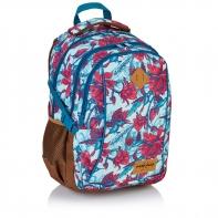 Plecak szkolny Astra Head HD-63, w czerwone kwiaty