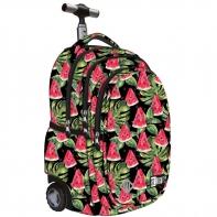 Trzykomorowy plecak na kółkach St.Right 34 L, Watermelon TB1