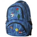 Dwukomorowy plecak szkolny St.Right 24 L, Jeans&Badges BP7