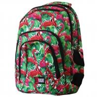 Dwukomorowy plecak szkolny St.Right 30 L, Flamingo Pink&Green