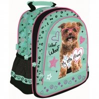 Plecak szkolny dla dziewczynki My Little Friend piesek w okularach