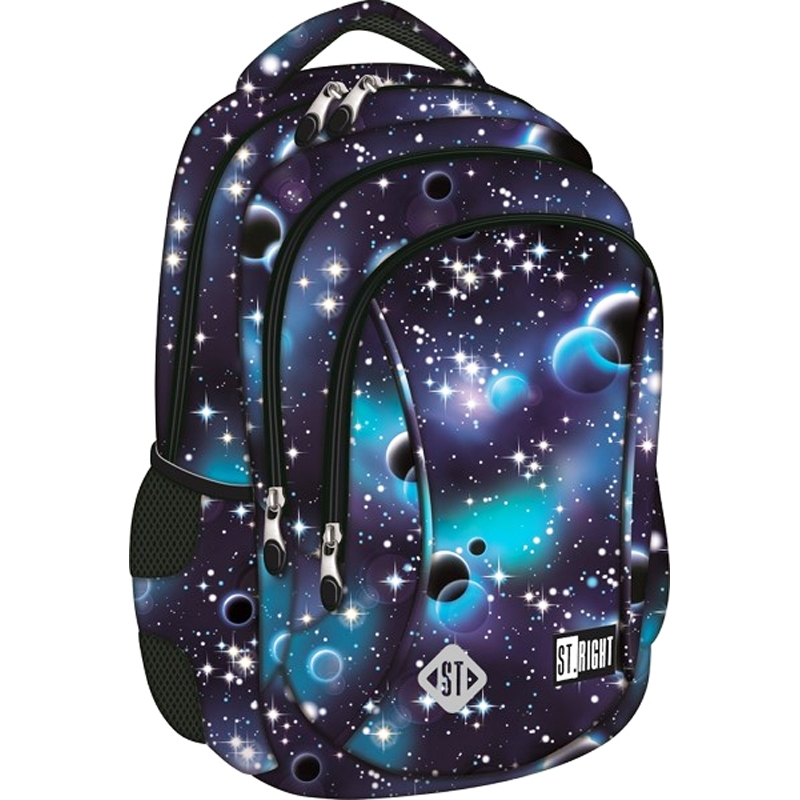 5c195abe10543 Dwukomorowy plecak szkolny St.Right 19 L, Cosmos
