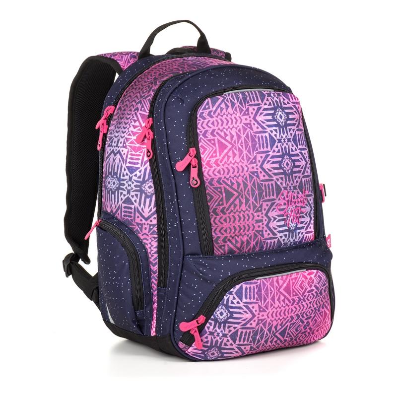 70b433477e783 Dwukomorowy plecak młodzieżowy Topgal SURI 18029