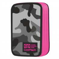 Podwójny piórnik z wyposażeniem, Coolpack Jumper 2, Como Pink Neon A363