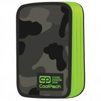 Podwójny piórnik z wyposażeniem, Coolpack Jumper 2, Como Green Neon A378