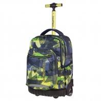 Plecak szkolny na kółkach CoolPack Swift Lime Abstract A002