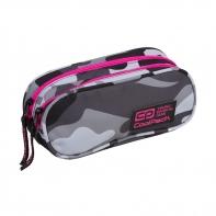 Saszetka piórnik szkolny Coolpack Clever, Como Pink Neon A360