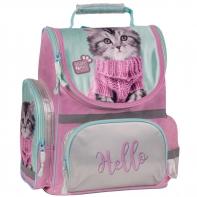 Lekki tornister szkolny z kotkiem w swetrze, Paso