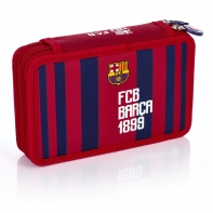 Piórnik podwójny z wyposażeniem FC-187 FC Barcelona Astra