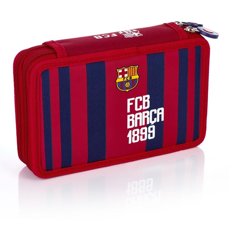 3bb5efe12bc93 Piórnik podwójny z wyposażeniem FC-187 FC Barcelona Astra