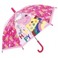 Dziecięca przezroczysta parasolka Świnka Peppa