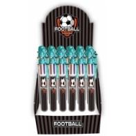 Długopis 6 kolorowy z motywem piłki nożnej Paso - 6 w 1