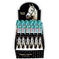 Długopis 6 kolorowy z białym koniem Paso - 6 w 1