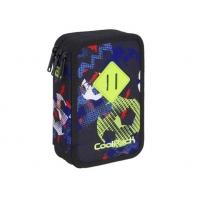 Potrójny piórnik z wyposażeniem, Coolpack Jumper 3, FOOTBALL A436