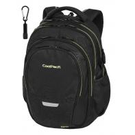 Młodzieżowy plecak szkolny CoolPack Factor 29L, TOPOGRAPHY YELLOW