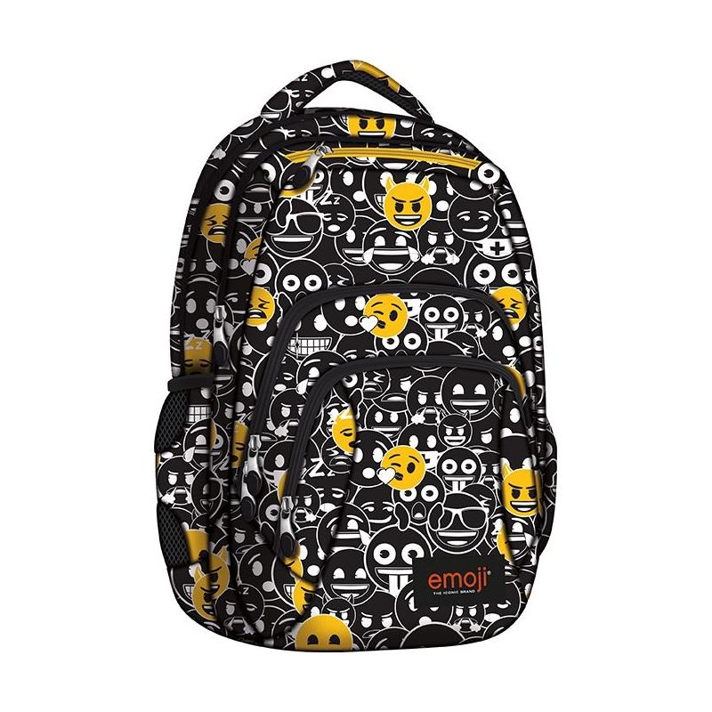 52aec0376dbc6 Dwukomorowy plecak szkolny St.Right 28 L, EMOJI Black
