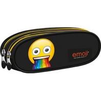 Piórnik szkolny - saszetka dwukomorowa St.Right EMOJI Rainbow