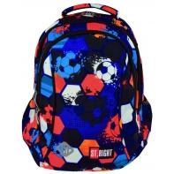 Dwukomorowy plecak szkolny St.Right 20 L, Football