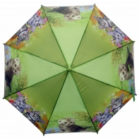 Automatyczna duża parasolka dziecięca z gwizdkiem, kotki, zielona