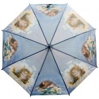 Automatyczna duża parasolka dziecięca z gwizdkiem, kotki, niebieska