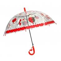 Przezroczysta głęboka parasolka dziecięca - biedronka