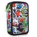 Podwójny piórnik z wyposażeniem, Coolpack Jumper 2, Graffiti, A66201