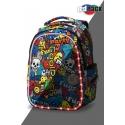 Swiecący plecak szkolny CoolPack LED Joy M 23 L Cartoon + ładowarka