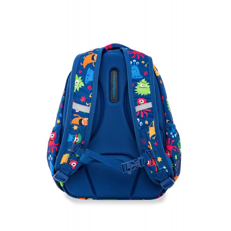 76df64a7816e2 NOWY. Swiecący plecak szkolny CoolPack LED Strike S 19 L Funny Mosters  A18206 + ładowarka