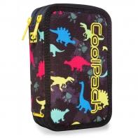 Podwójny piórnik z wyposażeniem, Coolpack Jumper 2, Dinosaurs