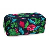 Trzykomorowa saszetka piórnik szkolny Coolpack Primus Candy Jungle, B60016