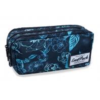 Trzykomorowa saszetka piórnik szkolny Coolpack Primus Underwater Dream, B60022