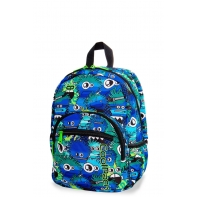 Dziecięcy mały plecak CoolPack Mini 18L, Wiggly Eyes Blue, B27034