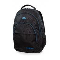 Młodzieżowy plecak szkolny CoolPack Basic Plus 27L, Topography Blue, B03003