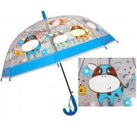Dziecięca głęboka parasolka z gwizdkiem, krówki