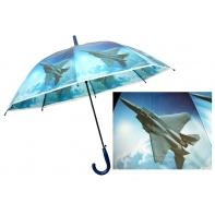 Automatyczna duża parasolka dziecięca z motywem odrzutowca