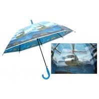 Duża automatyczna parasolka dziecięca z motywem helikoptera