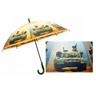 Automatyczna duża parasolka dziecięca z motywem czołgu